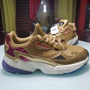 Adidas Falcon W shoes gold